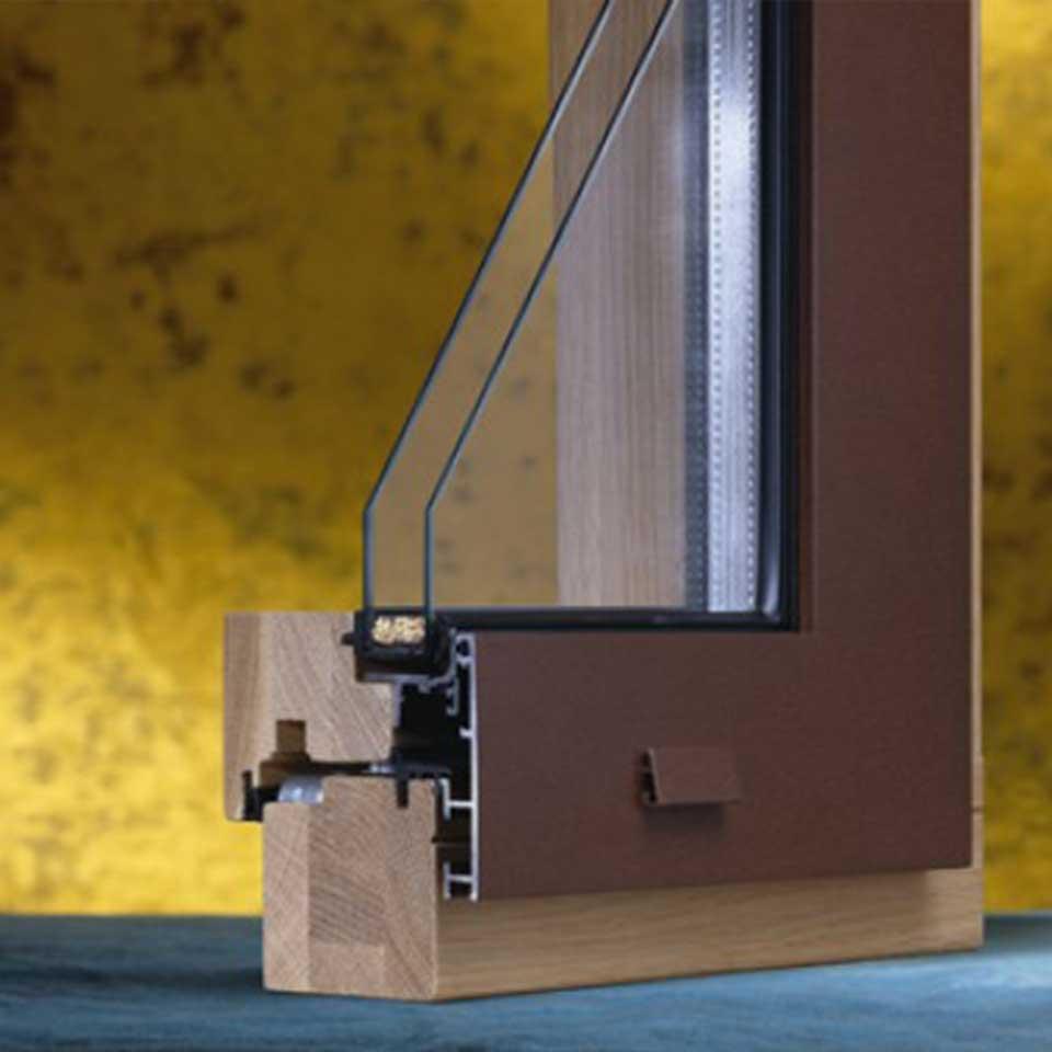 Infissi in legno pvc alluminio pavia voghera for Costo infissi legno alluminio